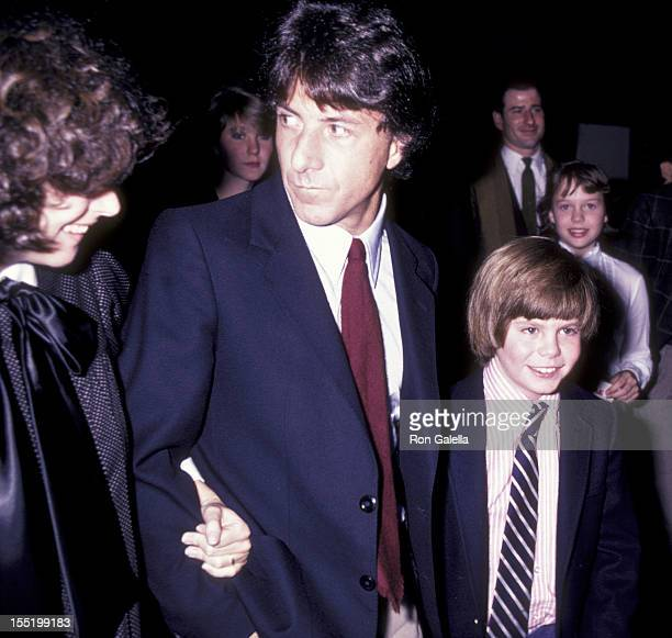 Dustin Hoffman wife Lisa Hoffman and Justin Henry attend the premiere of Tootsie on December 4 1982 at the Ziegfeld Theater in New York City