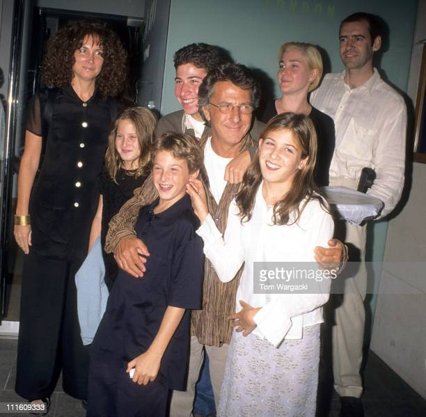Dustin Hoffman with family and friends during Dustin Hoffman with family and friends in London August 15 1997 at Nobu Restaurant in London Great...