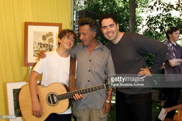Dustin Hoffman with his son Max and Barenaked Ladies singer Steven Page at The Elizabeth Glaser Pediatric Aids Foundation's 'A Time For Heroes'...
