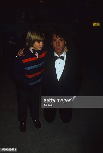 Dustin Hoffman with Justin Henry who played the son in Kramer vs Kramer circa 1970 New York