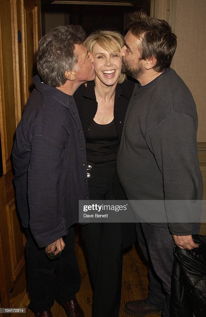 Dustin Hoffman With Trudie Styler And Luc Besson, American Actor Dustin Hoffman At The Charlotte Street Hotel.for The Screening Of His New Movie Ômoonlight Mile'