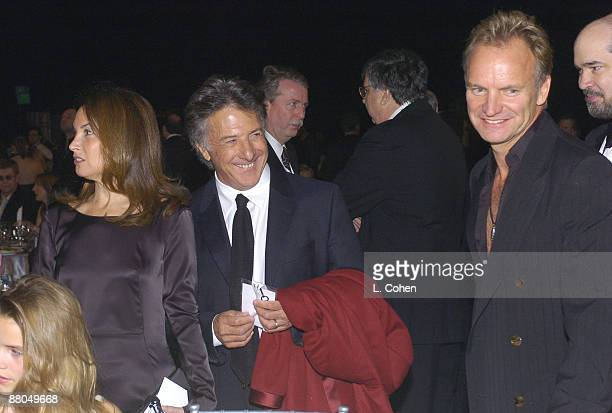 Dustin Hoffman with wife Lisa Gottsegen and Sting