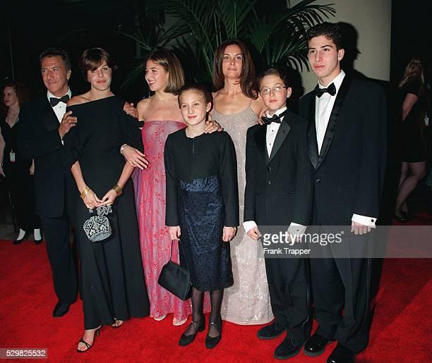 Dustin Hoffman wth his wife Lisa and their children Jake, Rebecca, Max & Alexandra.