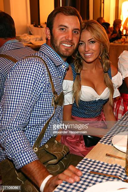 Dustin Johnson attends with Paulina Gretzky the BMW International Open 25th Anniversary Party at Rilano No6 Lenbach Palais on June 21 2013 in Munich...