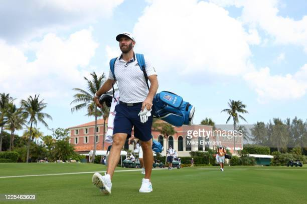 Dustin Johnson of the American Nurses Foundation team walks from the tenth tee during the TaylorMade Driving Relief Supported By UnitedHealth Group...