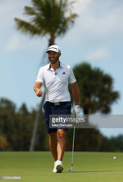 Dustin Johnson of the American Nurses Foundation team walks on the fourth hole during the TaylorMade Driving Relief Supported By UnitedHealth Group...