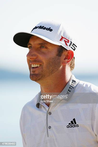 Dustin Johnson of the United States walks off the 12th green during the final round of the 115th US Open Championship at Chambers Bay on June 21 2015...