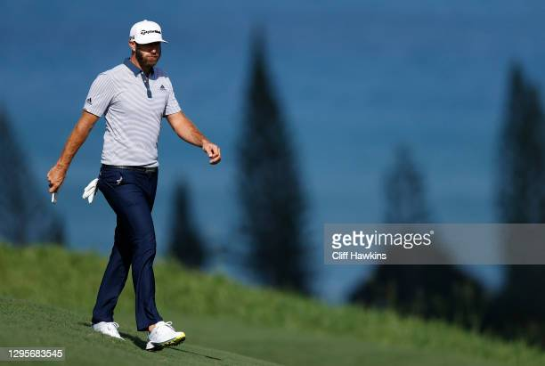 Dustin Johnson of the United States walks on the fourth hole during the final round of the Sentry Tournament Of Champions at the Kapalua Plantation...