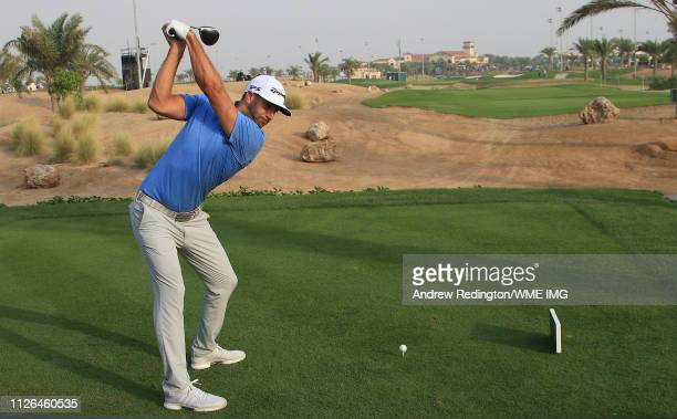 Dustin Johnson of the USA in action on Day One of the Saudi International at Royal Greens Golf and Country Club on January 31 2019 in King Abdullah...