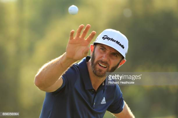 Dustin Johnson of the USA warms up on the driving range ahead of a practise round for the WGC Dell Match Play at Austin Country Club on March 21,...