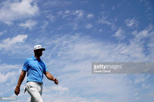 Dustin Johnson walks on the 1st hole during the final match of the World Golf Championships-Dell Technologies Match Play at the Austin Country Club...