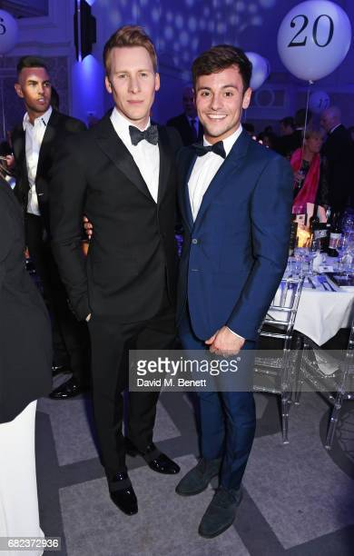 Dustin Lance Black and Tom Daley attend the British LGBT Awards at The Grand Connaught Rooms on May 12 2017 in London England