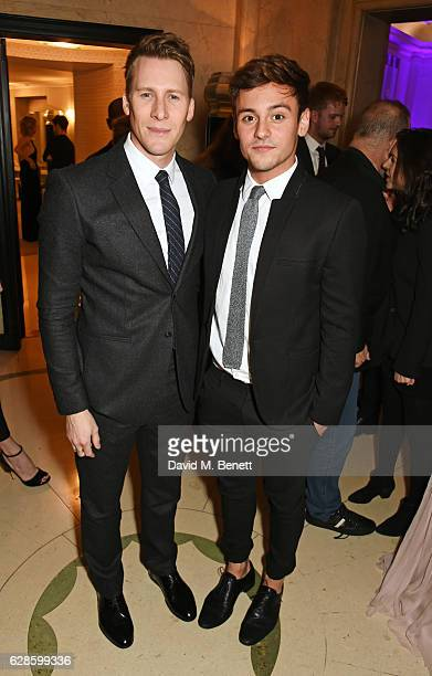 Dustin Lance Black and Tom Daley attend The London Evening Standard British Film Awards at Claridge's Hotel on December 8 2016 in London England