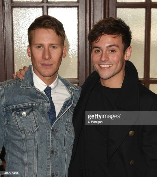 Dustin Lance Black and Tom Daley attend the Screening Of ABC's 'When We Rise' at Castro Theatre on February 20 2017 in San Francisco California