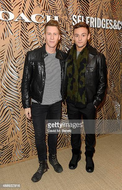 Dustin Lance Black and Tom Daly attend the launch of Coach at Selfridges hosted by Stuart Vevers at Selfridges on September 18 2015 in London England