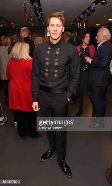 Dustin Lance Black attends the evening Gala Performance of 'Matthew Bourne's Cinderella' at Sadler's Wells Theatre on December 17 2017 in London...