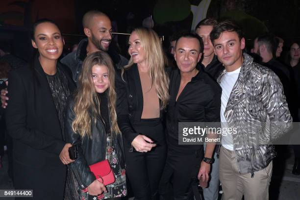 Dustin Lance BlackTom Daly Marvin Humes Rochelle Humes Amanda Holden Lexi Hughes with Designer Julien Macdonald backstage at the Julien Macdonald...