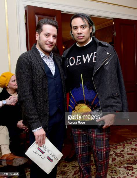 Dustin Lujan and Victor dE Souza attend Jean Shafiroff's anual Cocktail party at a Private Residence on February 27 2018 in New York City at Private...