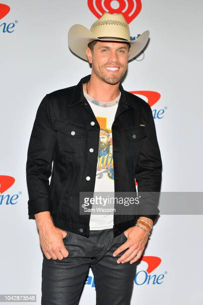 Dustin Lynch arrives at the iHeartRadio Music Festival at TMobile Arena on September 22 2018 in Las Vegas Nevada