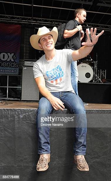 Dustin Lynch attends 'FOX Friends' All American Concert Series outside of FOX Studios on May 27 2016 in New York City