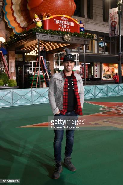 Dustin Lynch attends Macy's Thanksgiving Day Parade Talent Rehearsals at Macy's Herald Square on November 21 2017 in New York City