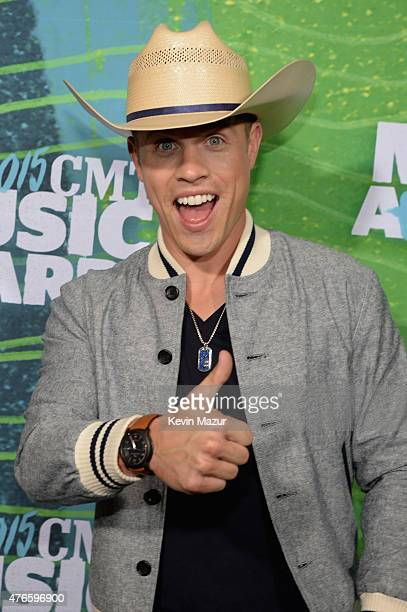 Dustin Lynch attends the 2015 CMT Music awards at the Bridgestone Arena on June 10 2015 in Nashville Tennessee