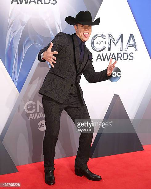 Dustin Lynch attends the 49th annual CMA Awards at the Bridgestone Arena on November 4 2015 in Nashville Tennessee