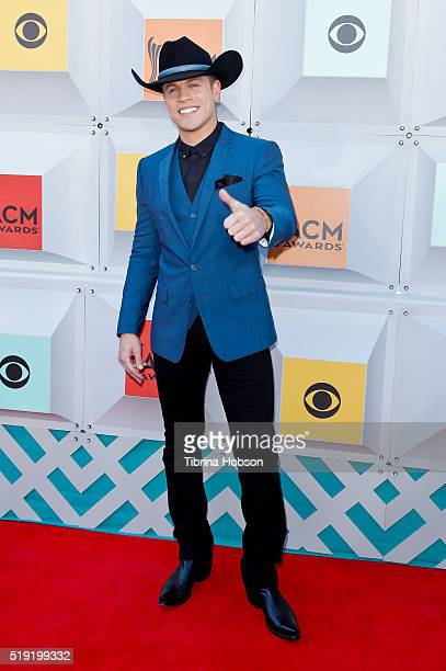 Dustin Lynch attends the 51st Academy of Country Music Awards at MGM Grand Garden Arena on April 3 2016 in Las Vegas Nevada