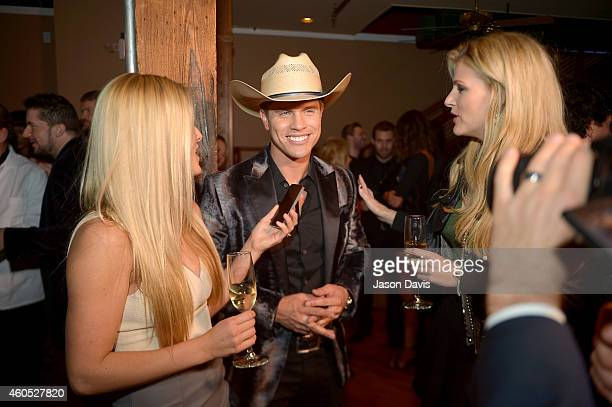 Dustin Lynch attends the Inaugural Nash Icon ACC Awards postshow party honoring Reba as the first recipient of the NASH ICON Award at aVenue on...