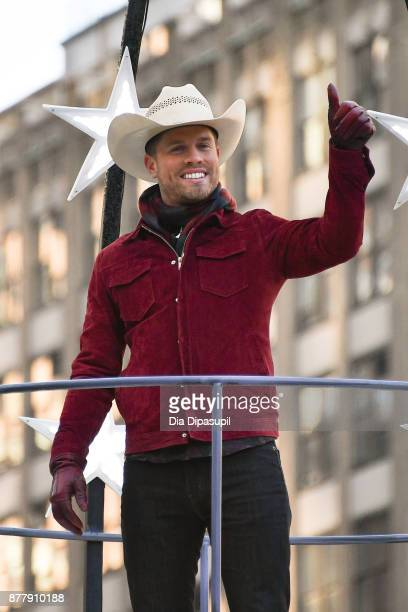 Dustin Lynch rides in the 91st Annual Macy's Thanksgiving Day Parade on November 23 2017 in New York City