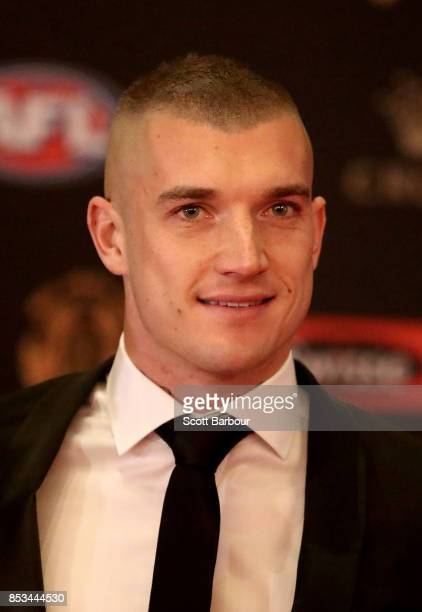 Dustin Martin of the Tigers arrives ahead of the 2017 Brownlow Medal at Crown Entertainment Complex on September 25 2017 in Melbourne Australia
