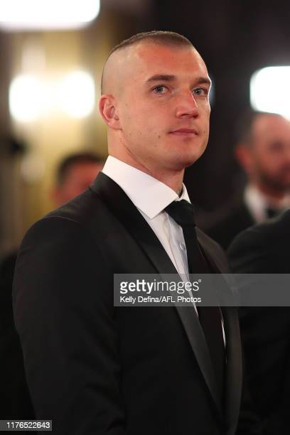 Dustin Martin of the Tigers arrives arrives ahead of the 2019 Brownlow Medal at Crown Palladium on September 23 2019 in Melbourne Australia