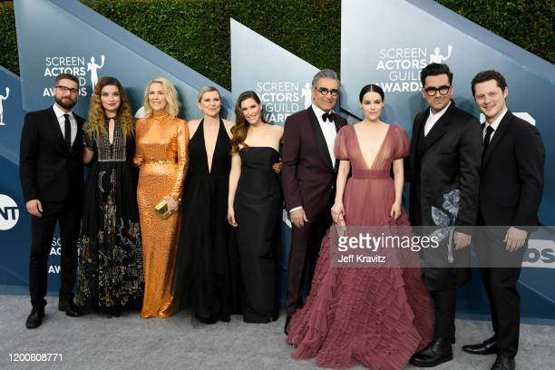 Dustin Milligan Annie Murphy Catherine O'Hara Jennifer Robertson Sarah Levy Eugene Levy Emily Hampshire Dan Levy and Noah Reid attends the 26th...