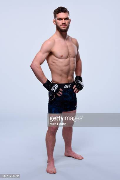 Dustin Ortiz poses for a portrait during a UFC photo session on January 17 2018 in Boston Massachusetts