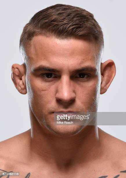 Dustin Poirier poses for a portrait during a UFC photo session on November 7 2017 in Norfolk Virginia