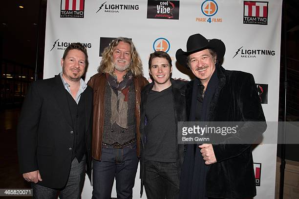 Dustin Rikert William Shockley Eric Brooks and Kix Brooks attend the 'Ambush At Dark Canyon' premiere at the Country Music Hall of Fame and Museum on...