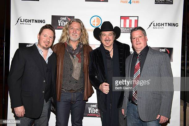 Dustin Rikert William Shockley Kix Brooks and Jim Aylward attends the 'Ambush At Dark Canyon' premiere at the Country Music Hall of Fame and Museum...