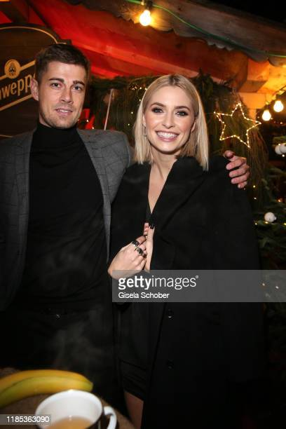 Dustin Schoene and Lena Gercke at the Lena Gercke x ABOUT YOU Christmas Dinner and Party at Hotel Stanglwirt on November 28 2019 in Going near...