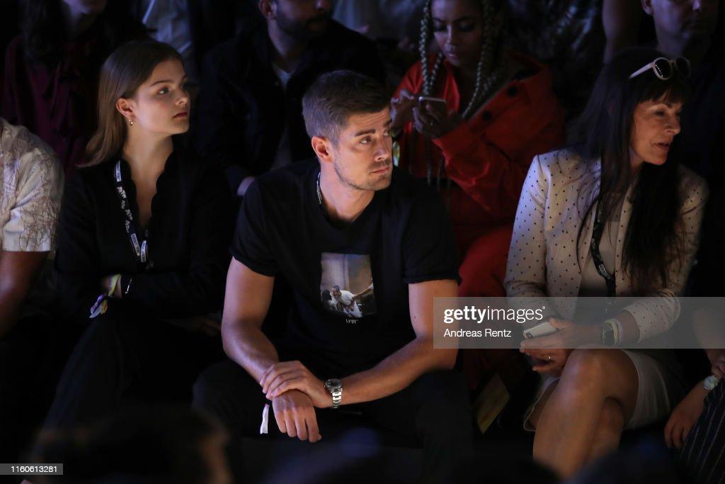 Dustin Schoene Partner Of Lena Gercke Watches The Leger By