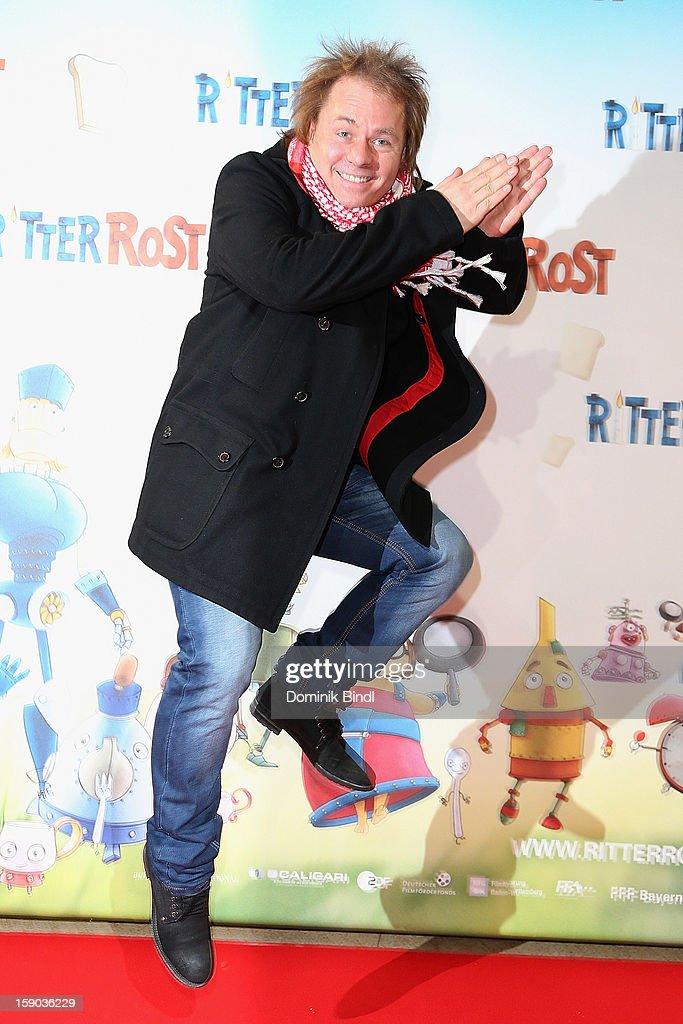 Dustin Semmelrogge attends the Ritter Rost Premiere on January 6, 2013 in Munich, Germany.