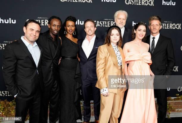 "Dustin Thomason, Barkhad Abdi, Yusra Warsama, Matthew Alan, Elsie Fisher, Tim Robbins, Lizzy Caplan and Paul Sparks attend Hulu ""Castle Rock"" Season..."
