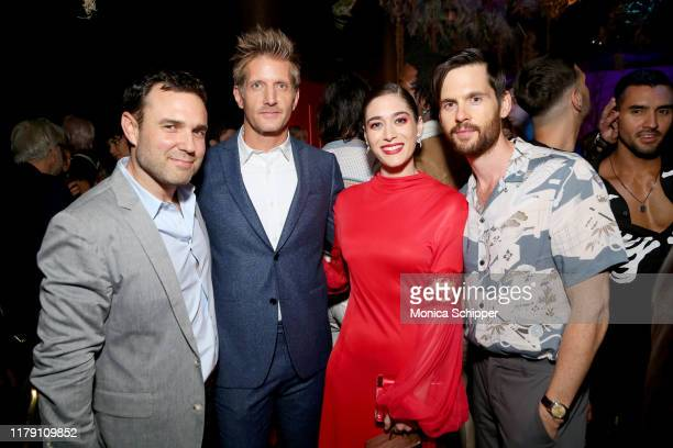 Dustin Thomason, Paul Sparks, Lizzy Caplan and Tom Riley attend Huluween 2019 on October 04, 2019 in New York City.