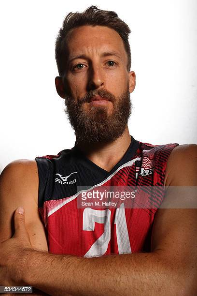Dustin Watten of the USA men's indoor volleyball team poses for a portrait at the American Sports Center on May 24 2016 in Anaheim California