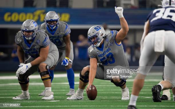 Dustin Woodard of the Memphis Tigers during the Goodyear Cotton Bowl Classic at ATT Stadium on December 28 2019 in Arlington Texas