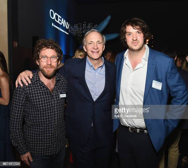 Dustin Yellen OceanX Founder Ray Dalio and OceanX Media Founder and Creative Director Mark Dalio attend the Launch Of OceanX a bold new initiative...
