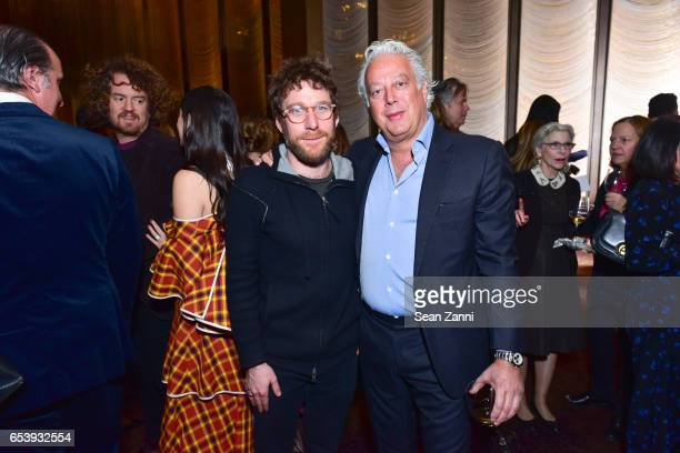 Dustin Yellin and Aby Rosen attend Art Production Fund's Bright Lights Big City Gala at Seagram Building on March 13 2017 in New York City
