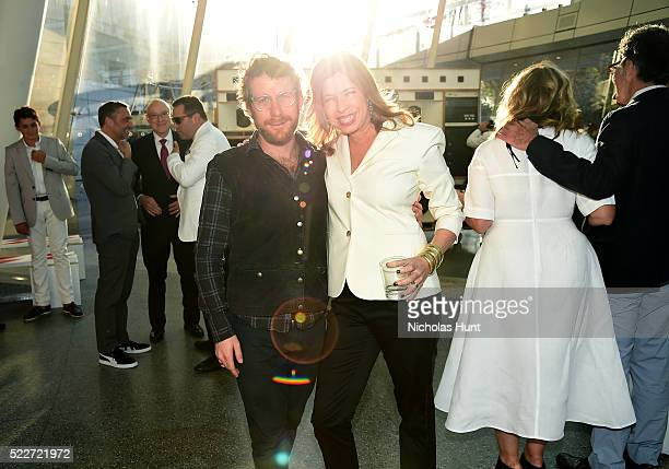 Dustin Yellin and director of the Brooklyn Museum Anne Pasternak attend The 2016 Brooklyn Museum Artists Ball Honoring Stephanie and Tim Ingrassia on...