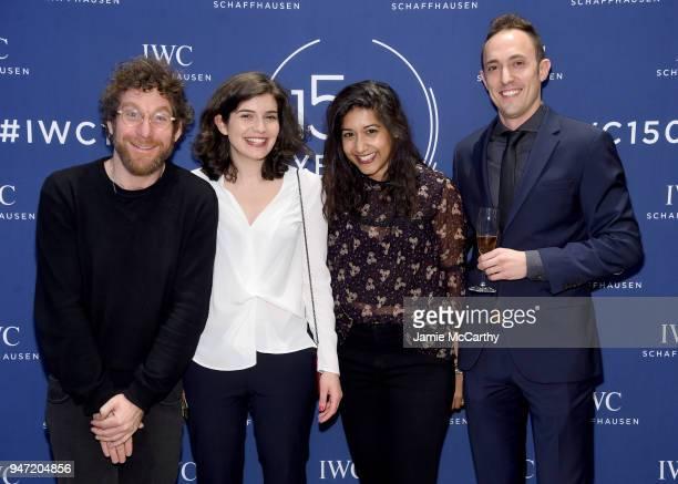 Dustin Yellin Charlotte Rebate Sonejuhi Sinha and Aaron Burke attend the IWC Tribeca Film Festival Filmmaker Award Celebration on April 16 2018 in...