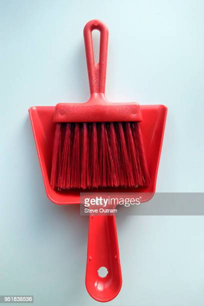 dustpan and brush - dustpan and brush stock pictures, royalty-free photos & images