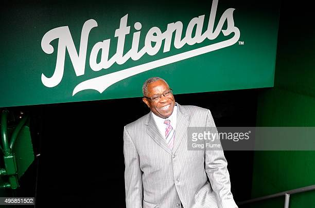 Dusty Baker is introduced as Manager of the Washington Nationals at Nationals Park on November 5 2015 in Washington DC